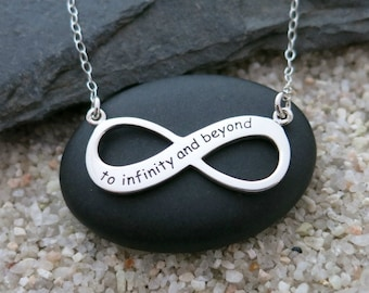 To Infinity and Beyond Necklace, Sterling Silver Infinity Pendant, Infinity Jewelry