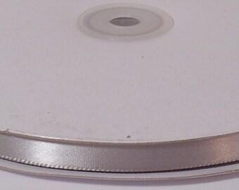 Single Face Satin Ribbon - Silver - 100 Yards