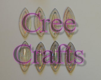 Large 49mm x 20mm Resin AB sew on gems