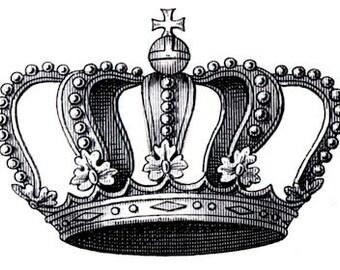 Vintage crown - temporary tattoo