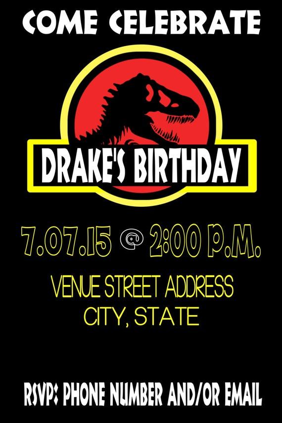 JURASSIC PARK Birthday Invitation