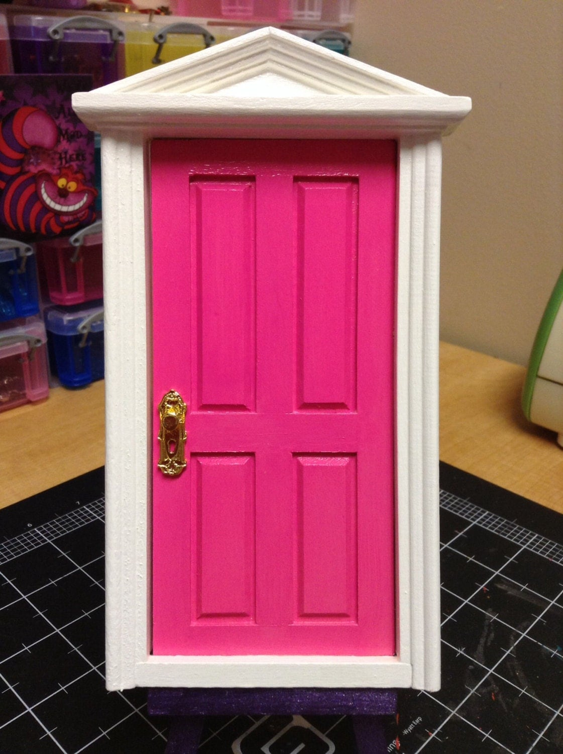 Tooth fairy door loose tooth fairy realm enchanted hot pink for Pink fairy door