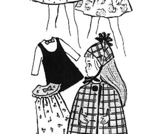 "A Vintage Wardrobe Pattern for the Teen Dolls' 6-1/4"" Tiny Sister"