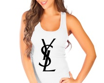 YSL Top Tank women Fashion Style100% Soft Cotton