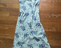90s Long Flower Dress