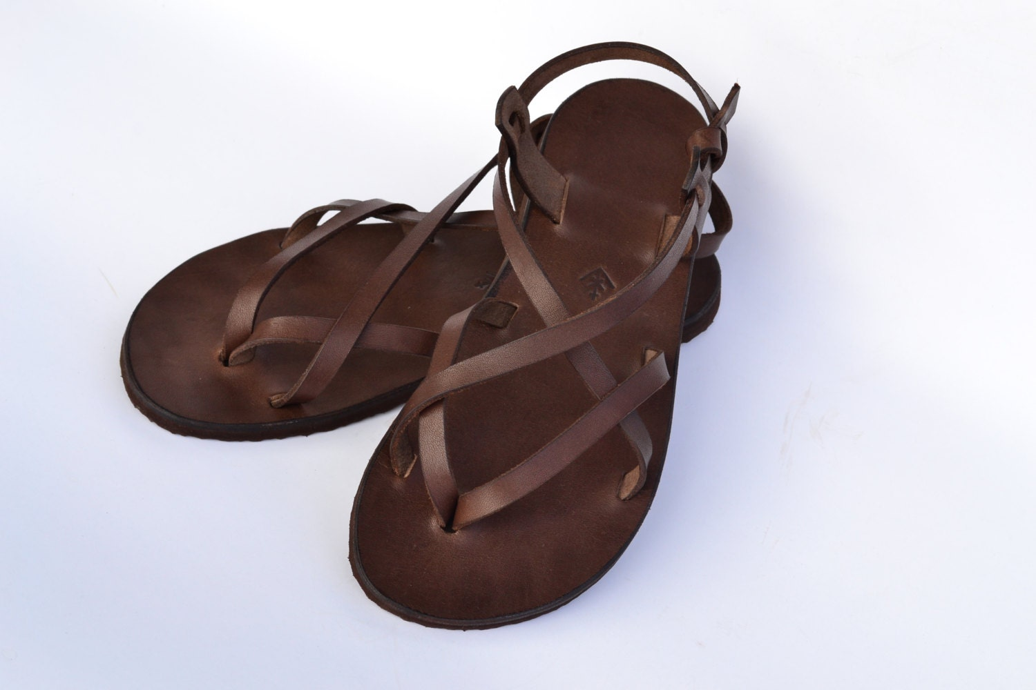 Sale 15 Leather Sandals Women Brown Sandals Barefoot