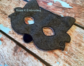 Felt woodland Grey Wolf children's animal mask Party favor Pretend Play Costume for pretend Dress up church play school play