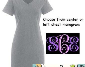 SALE - Monogrammed Night Shirts / Beach Cover Ups