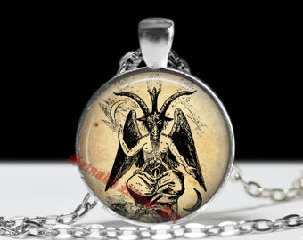 Baphomet pendant, baphomet necklace, occult pendant, occult necklace, satanic goat pendant, magic jewelry, Eliphas Levi #2.1