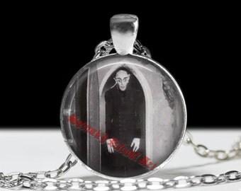 Nosferatu gothic necklace, Horror jewelry, Vampire pendant, goth choker, old horror necklace #80