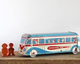 Vintage Tin Bus Toy