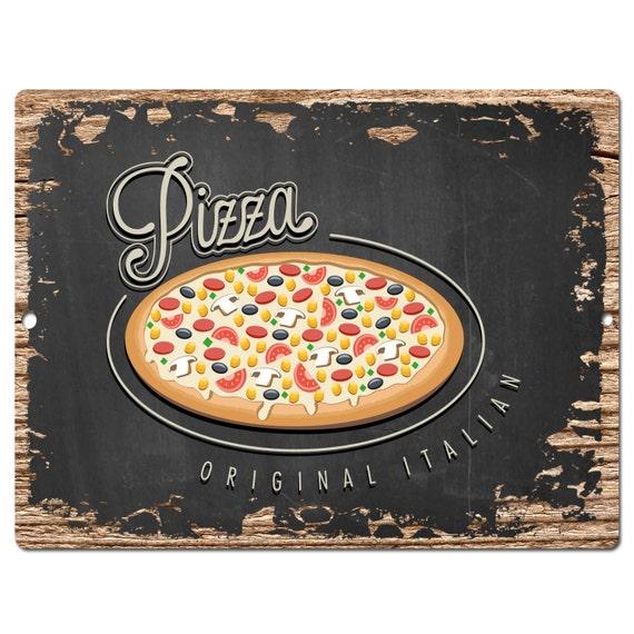 Italian Pizza Kitchen: PP0507Original Italian PIZZA Plate Chic Sign Bar Pub By