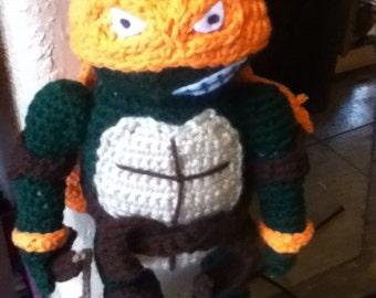 Handmade- Crochet Michelangelo- Turtle