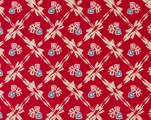 Judie Rothermel Retro 1930s OOP Hearts Fabric for Marcus Brothers - Aunt Grace Through The Year - February 155-111T - One Yard