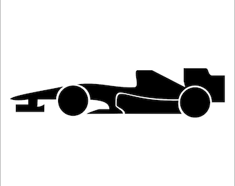 F1 Racing Car Wall Art Stencil  in reusable Mylar Children's wall stencil, wall art, small to large stencils up to 19.5 x 27.5 inches.