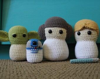 Star Wars Crochet Pattern, Star Wars Crochet Pattern Bundle, Princess Leia Crochet Pattern, Luke Skywalker Crochet Pattern