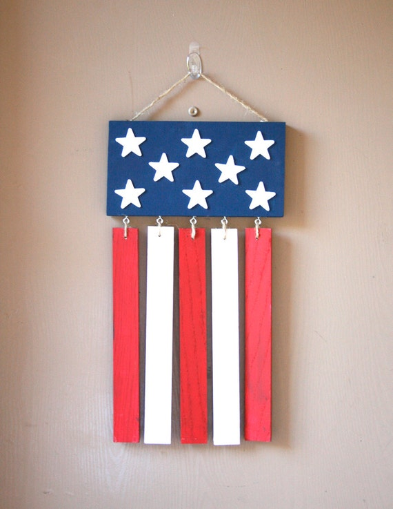 Hanging american flag front door decoration by for American flag decoration