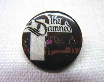 Vintage Early 80s The Damned - Dave Vanian - Live On Stage Pin / Button / Badge