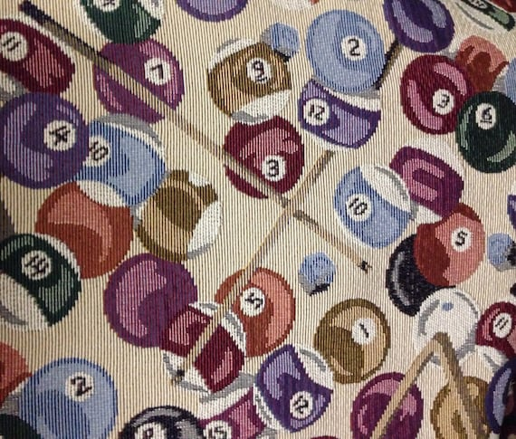 Pool Table Upholstery and Home Decor Fabric by ShopMyFabrics