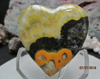 Bumblebee Jasper Heart (one of a kind)