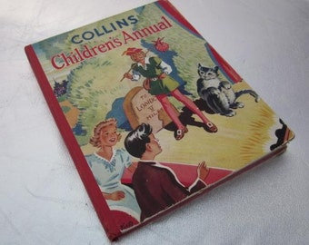 COLLINS CHILDREN'S ANNUAL Circa Early 1950s Vintage Children's Book
