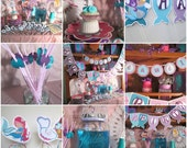 Mermaid Party Supplies - Complete Mermaid Party for 12 - Girls First Birthday