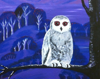 Owl at Twilight print