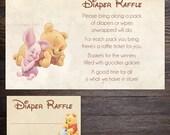 Winnie the Pooh Baby Shower Diaper Raffle