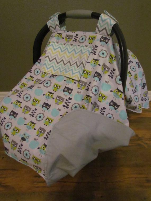 owl custom infant carrier cover baby shower gift car seat. Black Bedroom Furniture Sets. Home Design Ideas