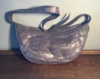 Vintage Eel Skin Hobo Bag / Purse