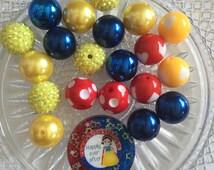 Snow White Round Resin DIY Kit - Chunky Bubblegum Bead Necklace Kit- Do it yourself kit