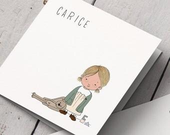 Birth Announcement card Carice