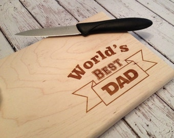 Dad cutting board, Father's Day gift,  Custom Engraved Cutting Board, Barbecue board,  personalized father's day gift, dad gift, bbq cutting
