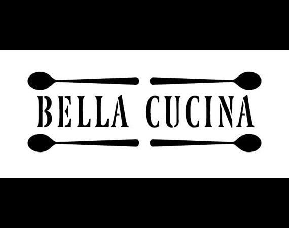 Bella cucina word stencil 9x 4 sku stcl327 for Stencil cucina