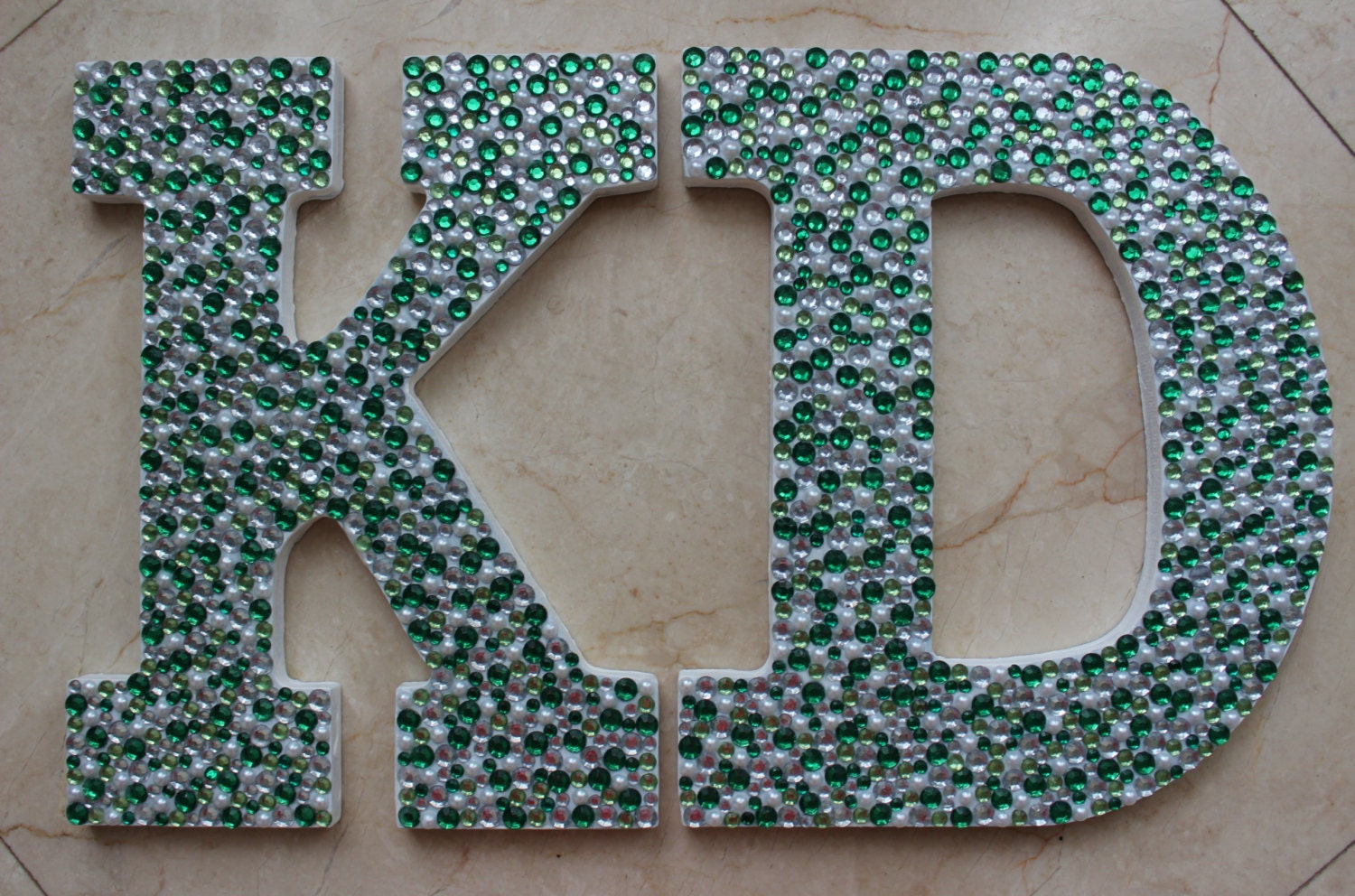 Rhinestone Initial Wooden Letters
