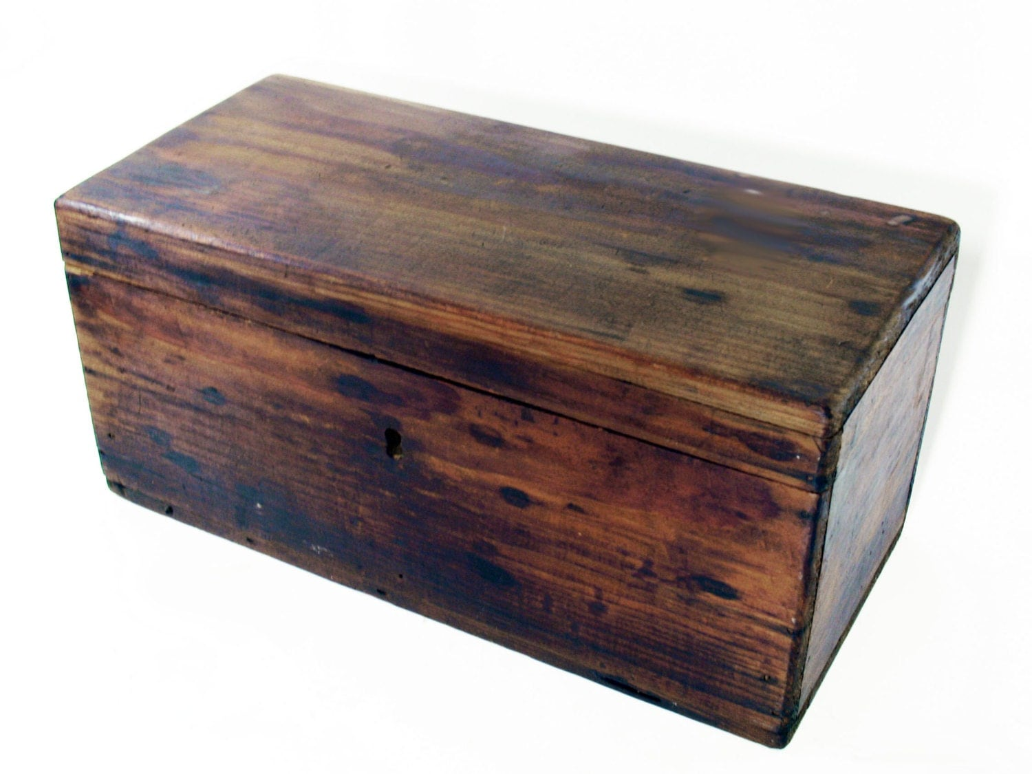 reserved wood box with hinged lid storage home decor. Black Bedroom Furniture Sets. Home Design Ideas