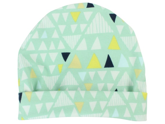 Mint Triangle Boy Baby Beanie Hat Unisex Mint Triangle Baby Leggings Baby Newborn Beanie Toddler Beanie Slouch Beanie Baby Gift Stretch Knit