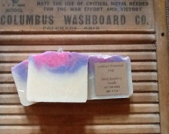 Black Raspberry Vanilla, Homemade Soap, Handmade, Cold Process  Soap