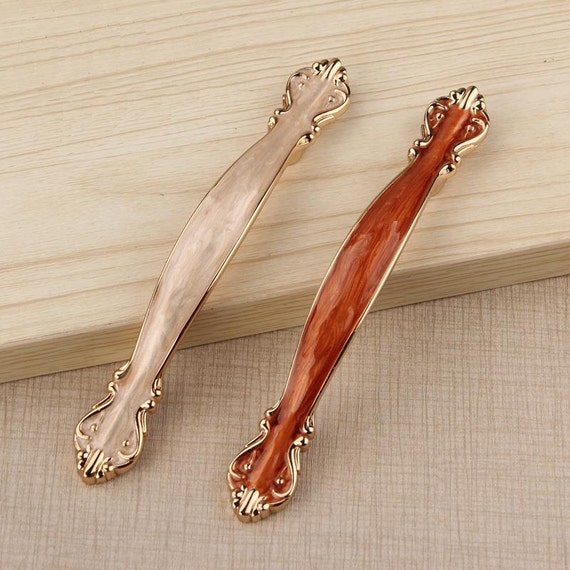 Country Kitchen Cabinet Hardware: Shabby Chic Dresser Drawer Pulls Handles White Gold / French Country Kitchen Cabinet Handle Pull