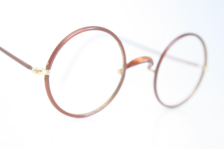 Vintage Glasses Frames Round Eyeglass Frames by ...