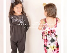 Alley Cat Romper modern pdf knit sewing pattern sleeveless and long sleeve options