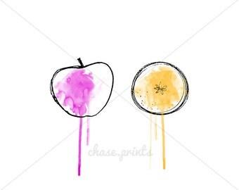 "Apples to Oranges 8""x10"" Print"