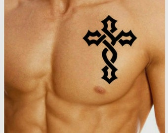 Temporary Tattoo Cross Fake Tattoo