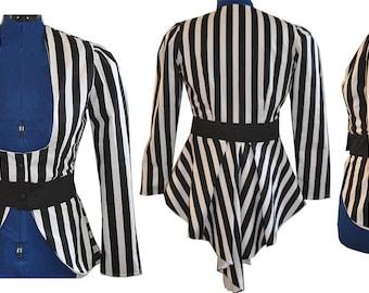 1X Victorian Stripe Elizabeth Jacket - Ready to Ship
