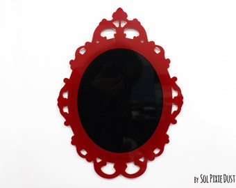 Modern Rococo Red Photo Frame - Oval Baroque Picture Frame