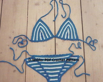 PDF Striped Crochet Bikini Pattern