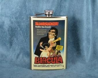 Blaxploitation classic - Blacula (1972)  -  8 oz stainless steel flask (RN 2042)