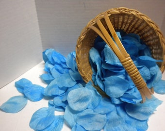 Turquoise Wedding Petals-Silk Petals. Flower Petals, Fabric, Weddings, Receptions