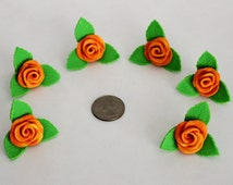 Polymer Clay Roses Cupcake Topper, Handmade, Cupcake Decoration, Cupcake Topping, Cake Topping, Cake Decoration, Cake Topper