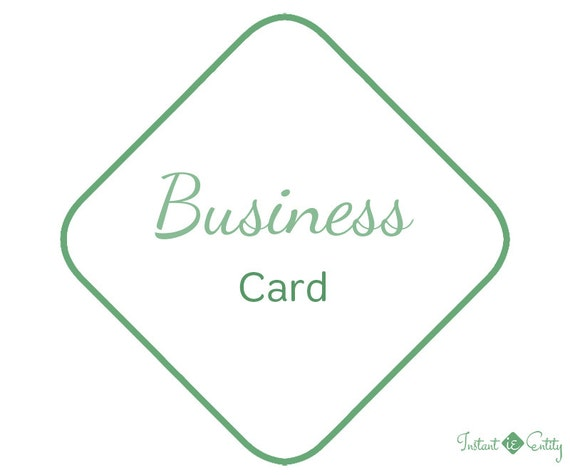 Custom Business Card Design | Printable Template Design Only | OOAK Professional Double-Sided Branding
